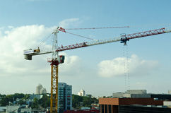 Construction Crane. In Rehovot High-Tech park stock images