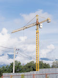 Construction crane. In construction site royalty free stock image
