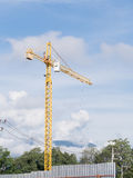Construction crane. In construction site Royalty Free Stock Photos