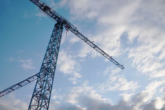 Construction Crane with a Sky Background Stock Photo