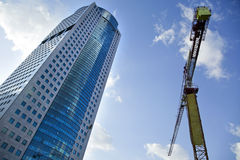 Skyscraper & Crane Stock Photography