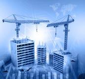Construction crane and skyscraper Royalty Free Stock Photos