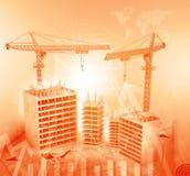 Construction crane and skyscraper Royalty Free Stock Photo