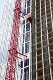 Construction crane at a skyscraper Royalty Free Stock Photo