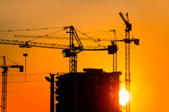 Construction crane and skyscraper Royalty Free Stock Photography
