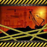 Construction crane at sunset background Royalty Free Stock Image