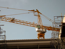 Construction crane tower. Against a sky Royalty Free Stock Photo