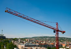 Construction crane tower Royalty Free Stock Photo