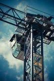 Construction Crane. The work cabin of a construction crane Stock Photos
