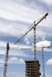 Construction cranes Stock Image