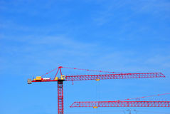 Construction Cranes Stock Photo