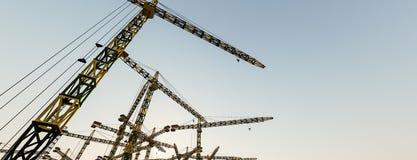 Free Construction Cranes Stock Photography - 160776662