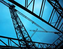 Construction cranes Stock Photos
