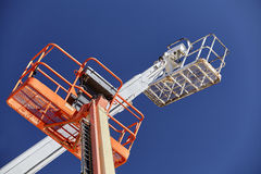 Construction Cranes aerial boom man lifts sky Royalty Free Stock Photography