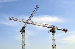 Construction Cranes Royalty Free Stock Photography