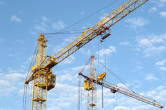 Construction cranes Royalty Free Stock Photo