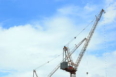 Construction cranes for architectural and engineering work Stock Photo