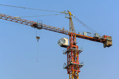 Construction cranes with blue sky Stock Image