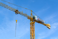 Construction cranes with blue sky Stock Photo