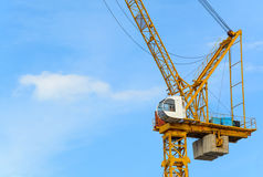 Construction cranes with blue sky Royalty Free Stock Photo