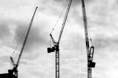 Construction Cranes (1) Royalty Free Stock Photo