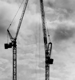 Construction Cranes (2) Royalty Free Stock Photography