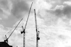 Construction Cranes (3) Stock Image