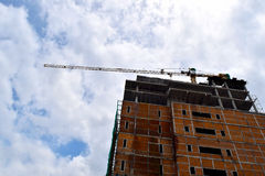 Construction cranes and Buildings and  sky background Stock Image