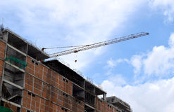 Construction cranes and Buildings and  sky background Royalty Free Stock Photos