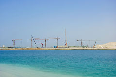 Construction Cranes in Dubai Royalty Free Stock Photo