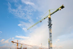 Construction cranes Stock Photography