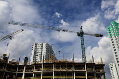 Construction and cranes Royalty Free Stock Images