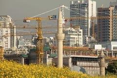 Construction cranes, Lebanon Stock Photos