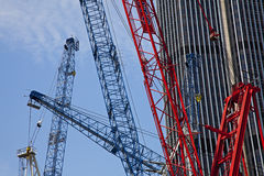 Construction cranes, London. Royalty Free Stock Photos