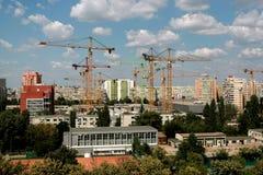 Construction cranes Royalty Free Stock Photo