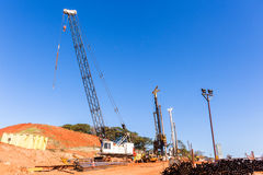 Construction Cranes Pylons Royalty Free Stock Images