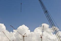 Construction Cranes and Sky Stock Photos