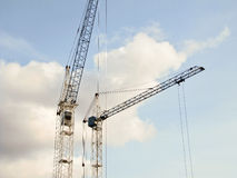 Construction cranes on the sky background Royalty Free Stock Images