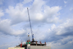 Construction cranes with sky Stock Image