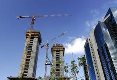 Construction cranes royalty free stock photos