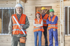 Construction Crew on site Stock Photography