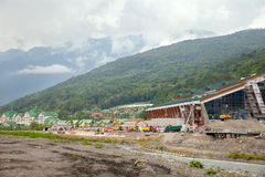 The construction of cultural center in Sochi Royalty Free Stock Photos