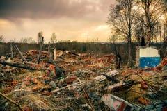Construction détruite Photo stock