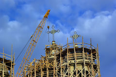 construction d'église Photos stock