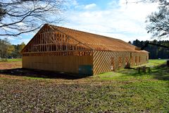 Construction d'église chez la Géorgie rurale Photographie stock