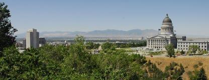 Construction d'église de lds du capitol n de l'Utah Photos libres de droits