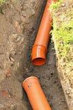 Construction d'égout Photographie stock