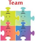 Construction d'équipe illustration libre de droits