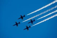 Construction d'équipe dans le ciel Photos libres de droits