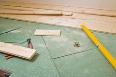 Construction d'étage de bois dur Photographie stock libre de droits